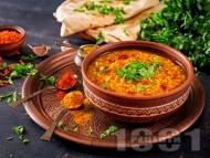 Сада дал – индийска леща яхния с люти чушки, кориандър, куркума и синапено семе